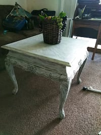 Chalk painted large side table or coffee table