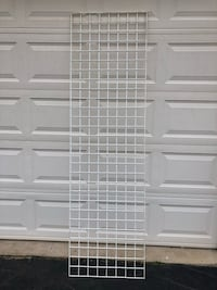 White Metal Gridwall Panels 2'x7' Store Display 2Available $20 Each Manassas, 20112