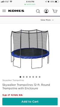 Blue and black trampoline with enclosure Watervliet, 12189