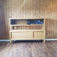 Real wood storage unit or tv stand- locate in blainville MONTREAL