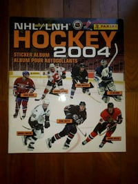 Album ďautocollants NHL hockey 2004 Panini stickers album