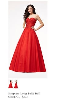 women's red sleeveless dress 68 km