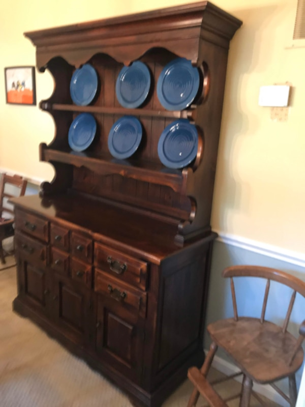 Dining room sideboard with hutch