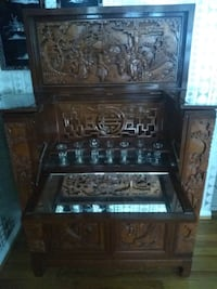 Fine Chinese carved hard wood portable bar Silver Spring, 20906
