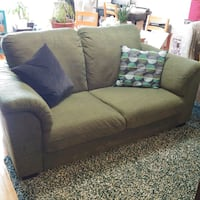 Forest green loveseat