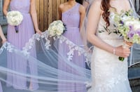 2 bridesmaids or prom dresses lavender gowns xs size 0 Mississauga, L5M 5E2