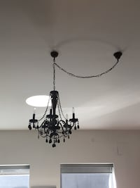 "Black crystal chandelier (approx 26"" x 21"") Toronto"