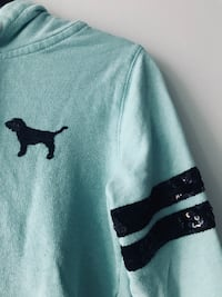 PINK Zip Up Sweater (Teal) Mississauga, L4Z 0A5