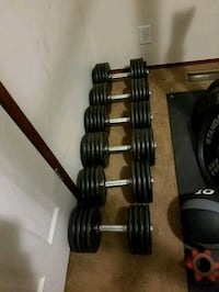 black and gray barbell and dumbbells South Lyon, 48178