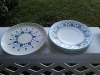 5small saucers 1 larger