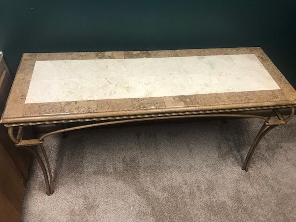 Used Marble Top Entry Table For Sale In Peachtree Corners Letgo