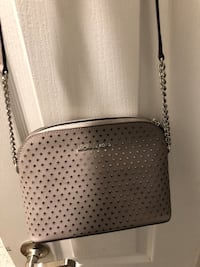 gray leather studded crossbody bag Fort McMurray, T9K 0B1