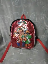 toddler's red and green Super-Mario and friends graphic backpack Des Moines, 50317