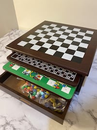 12 in 1 wood Game Center board games chess