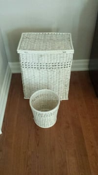Wicker Hamper and Waste Basket Vaughan, L6A 1A8