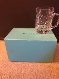 Authentic TIFFANY& CO crystal beer glass NEW Westborough, 01581