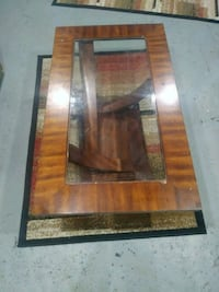 Woden coffee table with glass top Wayne, 48184