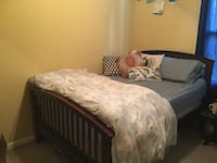 Full size bed frame with headboard and footer Washington