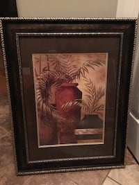 brown wooden framed painting of tiger Edmonton, T5K 2P5