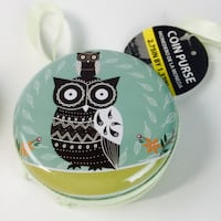 green, black, and white owl printed plate deco Long Beach, 90808