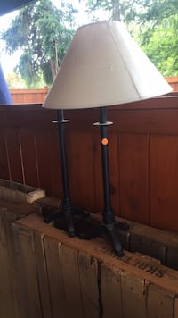 Wrought-Iron Table Lamps-1 shade w/damage $25-set View Royal, V9B 5J8