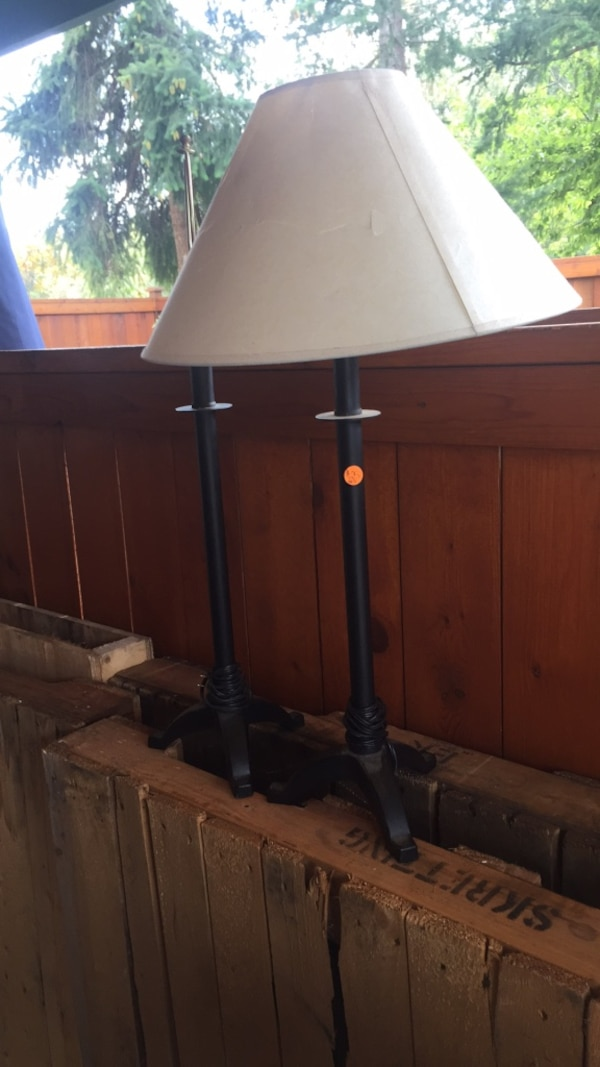 Wrought-Iron Table Lamps-1 shade w/damage $25-set