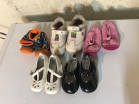 5 pair baby girl shoes