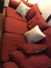 Burgundy COMFORTABLE couch.  2 years old from a smoke free home Bethesda, 20814