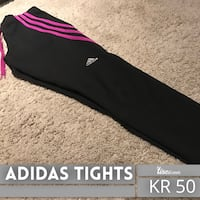 Svart og maroon Adidas Tights sweatpants Oslo, 0150