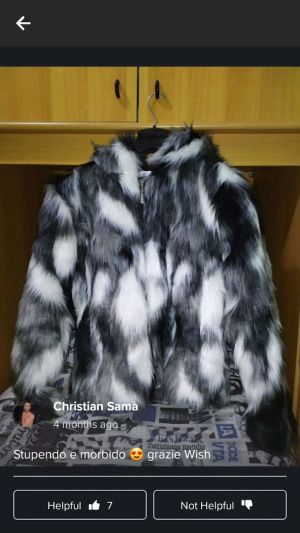 Brand new faux fur jacket zip up 8