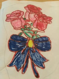 red roses drawing with color 2257 mi