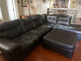 Sectional with ottoman (price negotiable)
