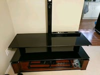 Glass and wood TV stand Burnaby, V5G 3M3