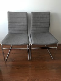 two gray metal framed gray padded chairs Vancouver, V6H