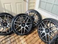 """20"""" Motive Rims and tires ! Great condition must go!  Rockville, 20850"""