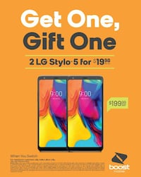Buy One LG STYLO 5 and Get One For $10!