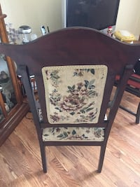 brown wooden framed floral padded armchair Summit Hill, 18250