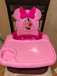 Baby's pink and white minnie mouse high chair Montréal, H3S 5X4