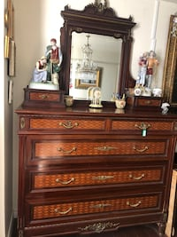 Large antique French dresser with mirror Toronto, M2R 3N1