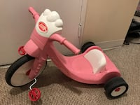 pink and white trike