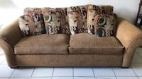 Brown Fabric Sofa Miami, 33196