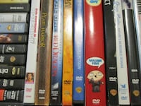 five assorted DVD movie cases Guelph