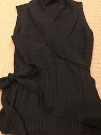 Tahari chocolate cardigan vest wrap around shawl collar size large Gaithersburg, 20879