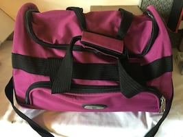 Pink and black bag,looks like new.