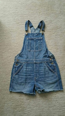 Ladies American Eagle Short Overalls Size Small