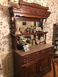 Brown wooden dresser with mirror Clifton, 20124