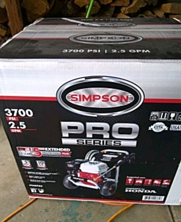Simpson pro series pressure washer