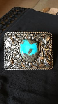 Old Pawn SS & Turquoise Belt Buckle Snohomish, 98290