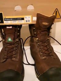 pair of brown leather work boots Calgary, T1Y 4S7