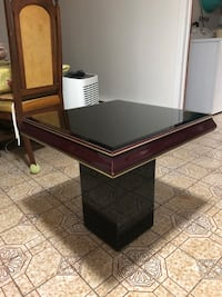 Brown square table